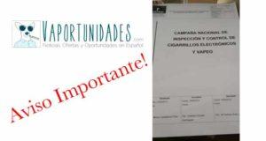 CAMPAÑA DE INSPECCIÓN Y CONTROL DEL CIGARRILLO ELECTRÓNICO Y VAPEO