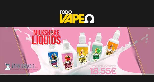 todovapeo milkshake liquids oferta espana